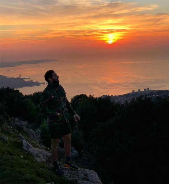 Let it Burn 🌅  ExploreWithChris.. lebanon  Instagram  lebanese ... (Jounieh keserwan جونية كسروان)