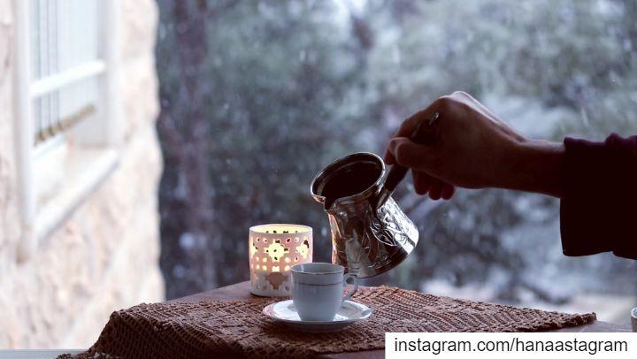 😌😌😌❄❄❄ مسائكم_سعاده بيتي بساطه تلج روقان_تايم تصوير عدستي شتاء قهوت