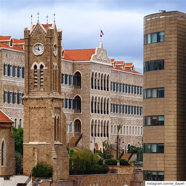 Beautiful palace❤🇱🇧 oldarchitecture  clocktower  lebaneseflag  snapshot... (Beirut, Lebanon)