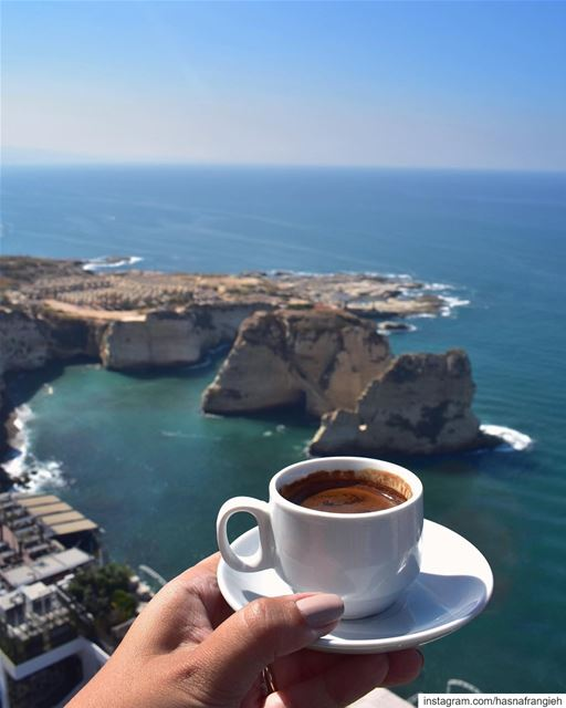 coffee tastes even better on Saturday 😍💙☕️🔆... (Beirut, Lebanon)