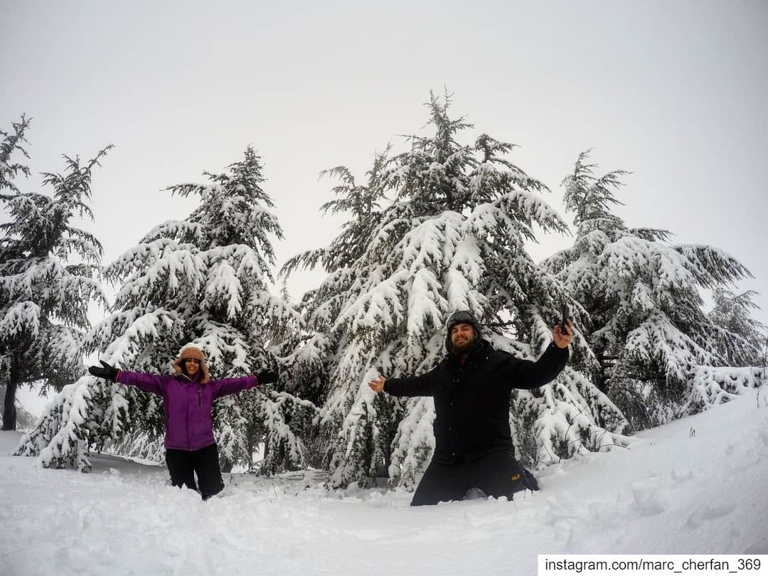 Happiness is doing the things you like with the one you Love ❤️❄️... (Falougha, Mont-Liban, Lebanon)