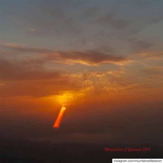 "A ""Turner's"" sunset Having fun with camera manipulation far away from the... (Ballouneh, Mont-Liban, Lebanon)"
