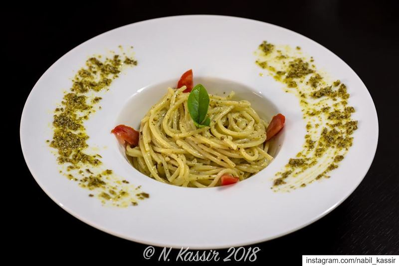 homemade mycooking pasta spaghetti pesto pestopasta cream ...