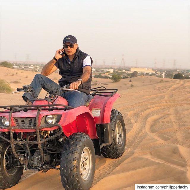 Every moment is a fresh beginning.... atv atvriding desert color call... (Umm al Qaiwain)