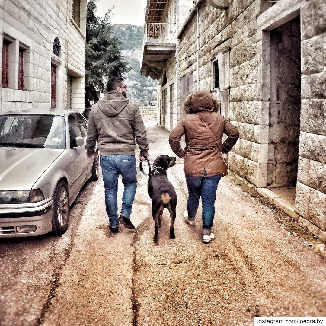 Happy Family happyfamily dog dogsofinstagram father mother ... (Douma, Liban-Nord, Lebanon)
