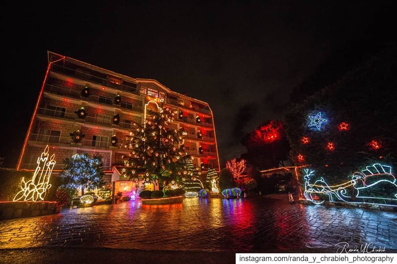 ☔🎄❄️ randaychrabiehphotography hotel bikfaya lebanonspotlights ... (Merry Land Hotel)