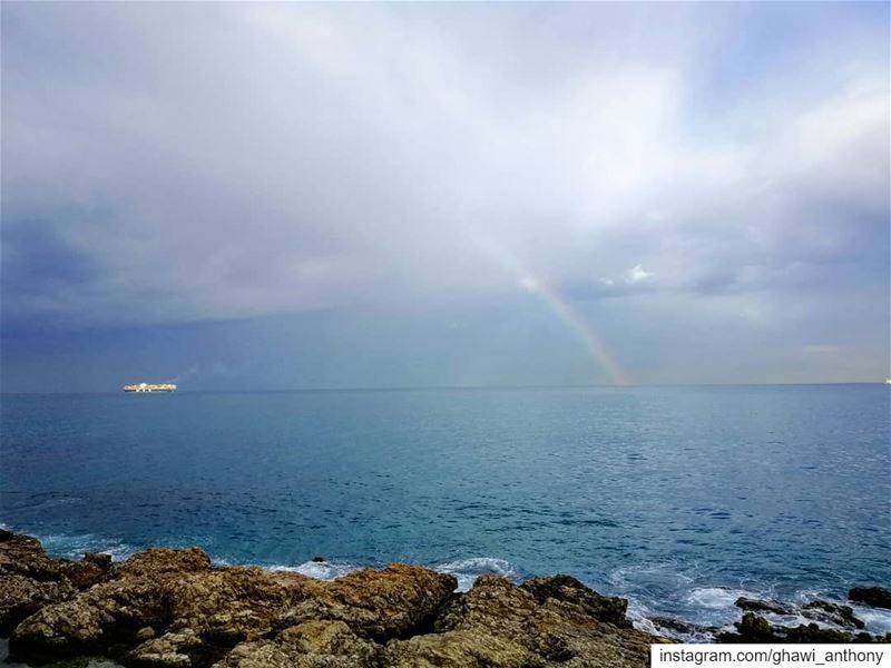 Happy Saturday all 🌈💙______________________________________ saturday ... (Beirut, Lebanon)