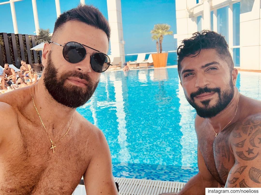 FRIENDS..... portrait photomodel blackandwhite ... (Four Seasons Hotel Beirut)