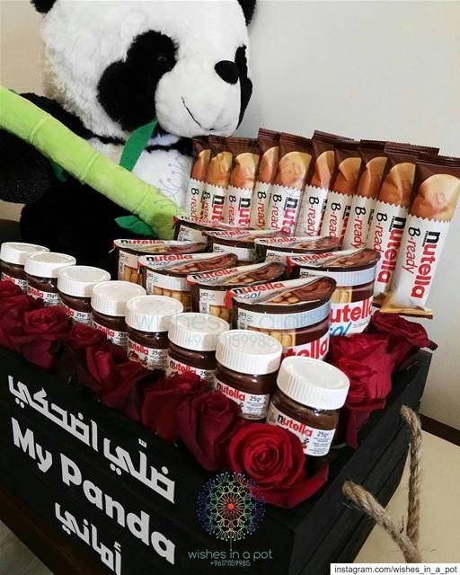 ضلي اضحكي! عطيها سبب لتضحك nutella panda giftbox is the ultimate gift...