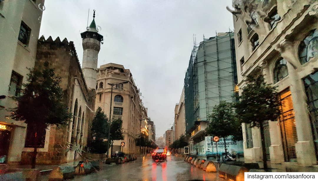 Rainy Sundays 🌧 lebanoninapicture ptk_lebanon livelovebeirut ... (Downtown Beirut)