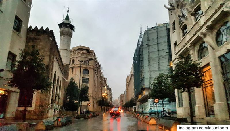 Rainy Sundays 🌧 lebanoninapicture ptk_lebanon livelovebeirut ... (Downtown Beirut)