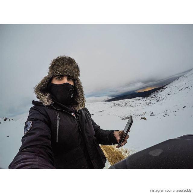 Snow season mode on, ready for a ride? livelovelebanon lebanonadventure ... (Mount Sannine)