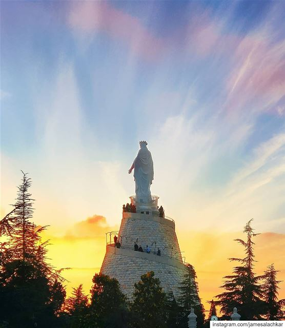 Our Lady Of Lebanon pray for us 🙌 mary virginmary religioustourism ... (Harîssa, Mont-Liban, Lebanon)