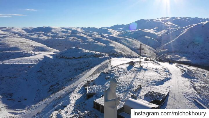 🎬 First Snow at St Charbel FarayaSound on 🔊... AboveLebanon ... (Lebanon)