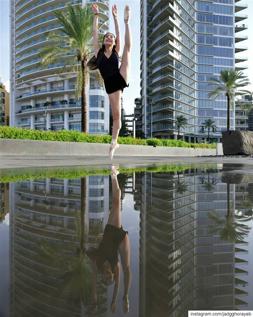 ~ Thea ~.In Frame: @theamakdessi.  reflection  reflectiongram  ballet ... (Beirut, Lebanon)