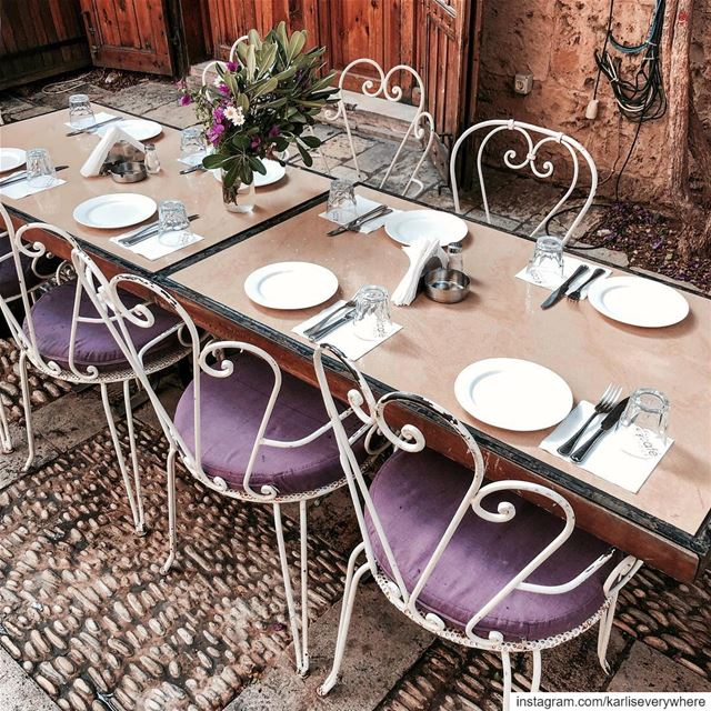 Table is set 💜 Let's Mezze! Beirut lebanon... (Byblos, Lebanon)
