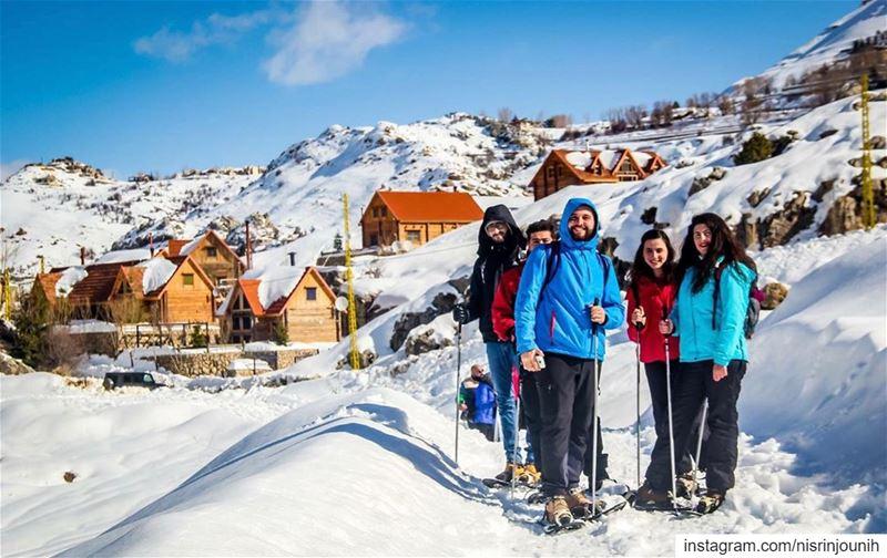 laqlouq lebanon🇱🇧 snowland livelovelife snowshoeing friends... (El Laqloûq, Mont-Liban, Lebanon)