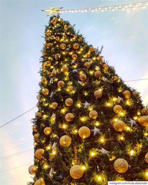 Christmas spirit 😍💙 (Byblos, Lebanon)