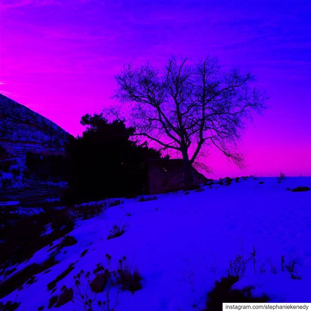 💜 love picoftheday photooftheday splash skyline sky purple nature... (Ehden, Lebanon)