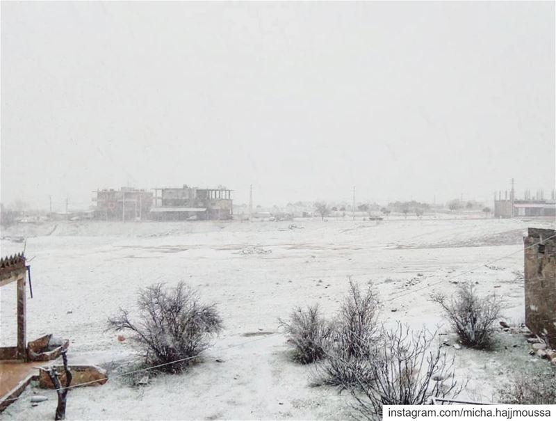 على نافذتك تتناثر قطرات الثلج بهدوء ورقة وكأنّها تهمس، في آذاننا بصوت خافت... (Îaât, Béqaa, Lebanon)