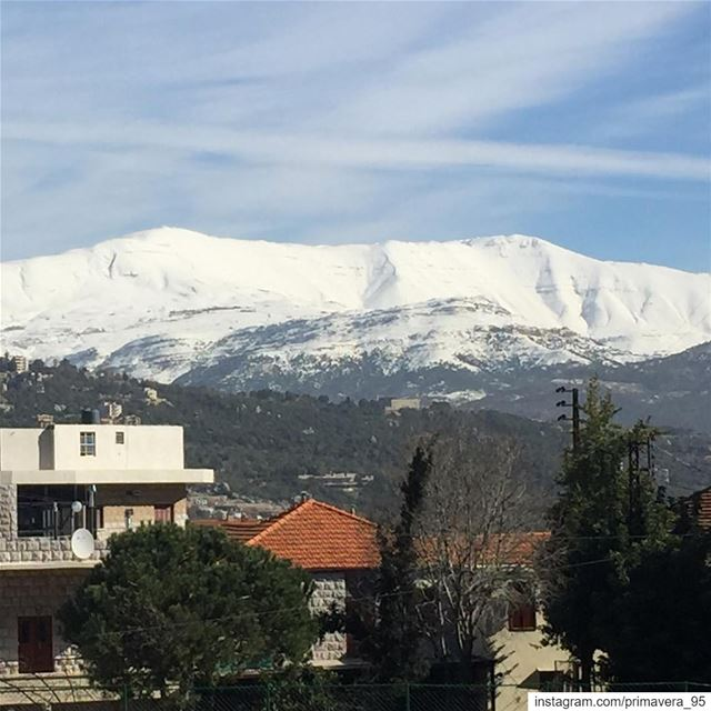 snow mountain lebanon nature naturephotography beautiful wanderlust... (Ajaltoun, Mont-Liban, Lebanon)