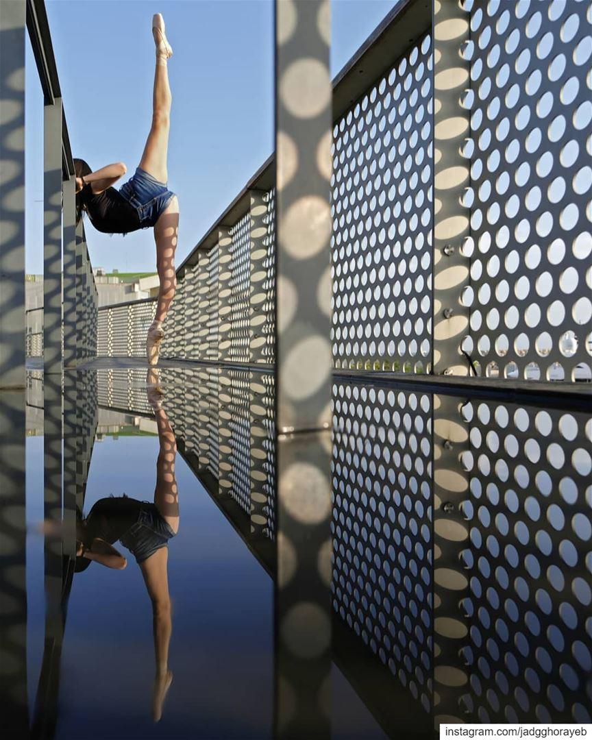 ~ Thea ~.In Frame: @theamakdessi. reflection reflectiongram ballet ... (Beirut, Lebanon)