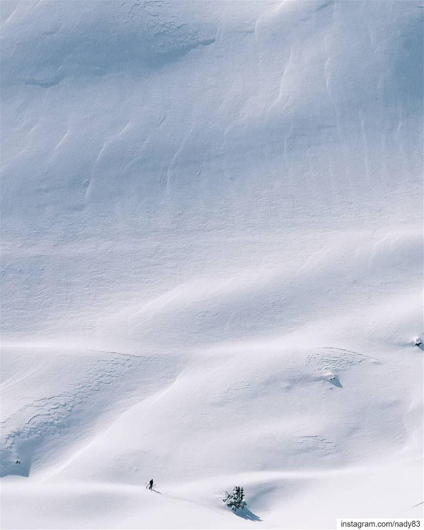 The great white wall 🏔️. backcountryskiing skitouring lebanon snow...