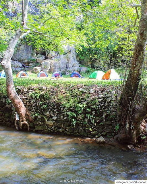 tb hiking nahereljouz river camping lebanon nature trees ... (Nahr el Jaouz)