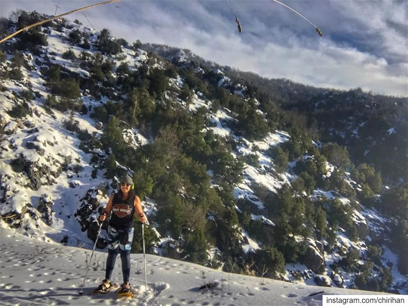 Natural habitat ❤️ snowshoeing snow lebanon mountains mountainsports ... (El Laklouk, Mont-Liban, Lebanon)