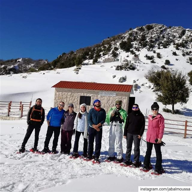 Snowshoeing in  JabalMoussa prior to the storm.  unescomab  unesco ... (Jabal Moussa Biosphere Reserve)