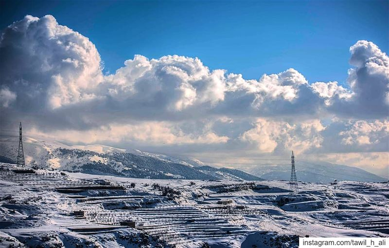 ❄️ landscape  contrast  mountains  snow  winter  snowday  beautiful ... (Daher El Baydar)
