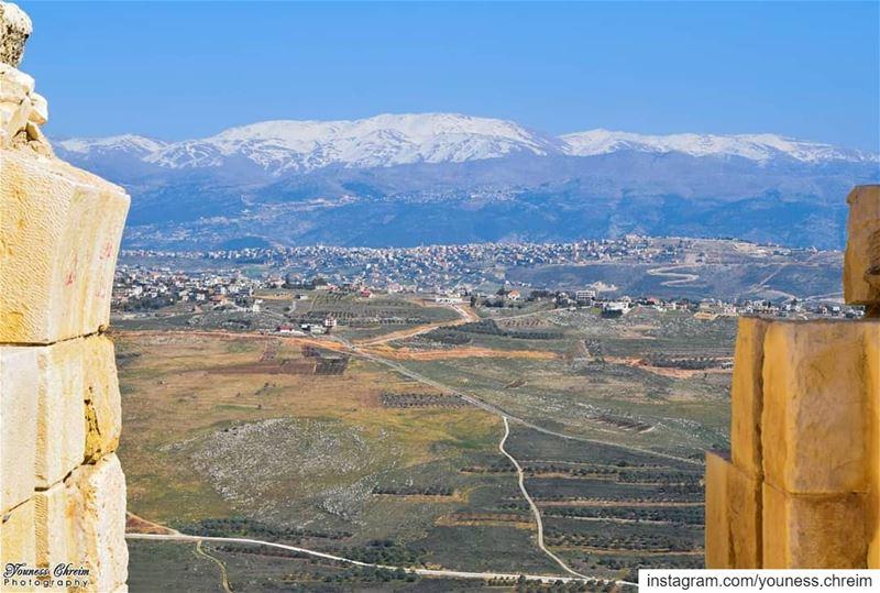 صباح الخير من قلعة الشقيف beaufort beaufortcastle shkif nabatieh ... (Beaufort Castle, Lebanon)
