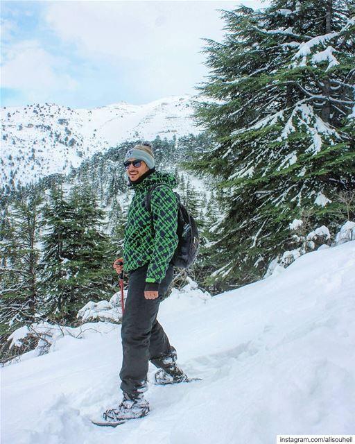 About yesterday sunday snowshoeing ehden snow storm northlebanon ... (Ehden, Lebanon)