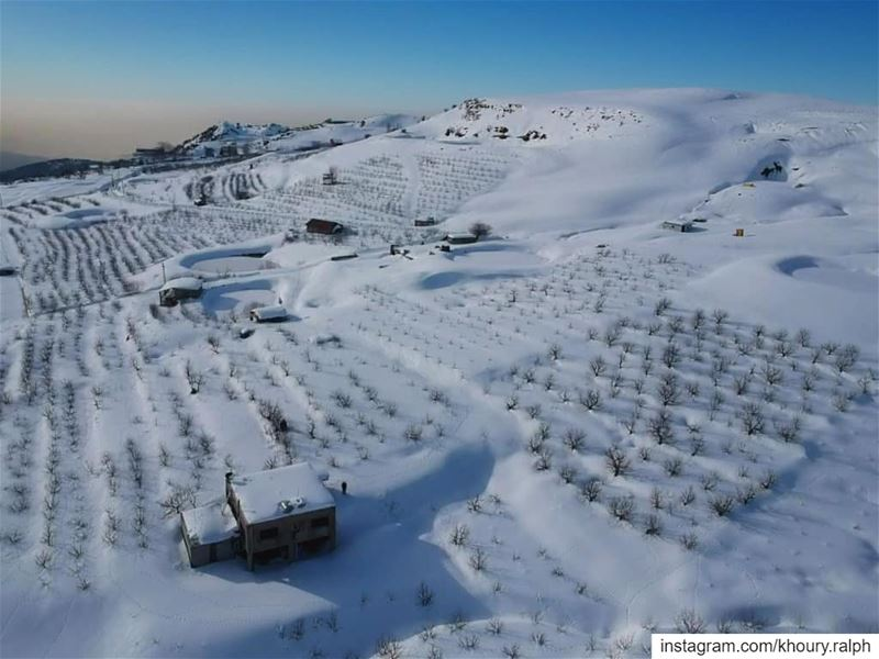 He's cold, silent and strong...... snow morning cold dronestagram ... (Lebanon)