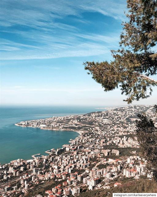 How about this view ? jounieh Beirut... (Our Lady of Lebanon)