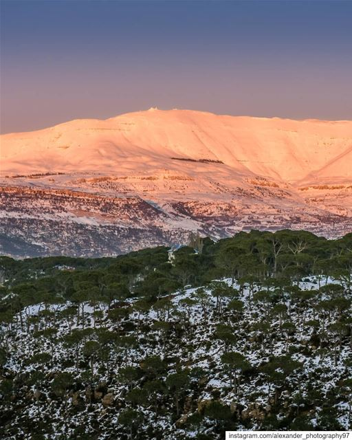 Mount Sannine at the Golden hour, showing Mzaar top peak and beautiful... (Mount Sannine)