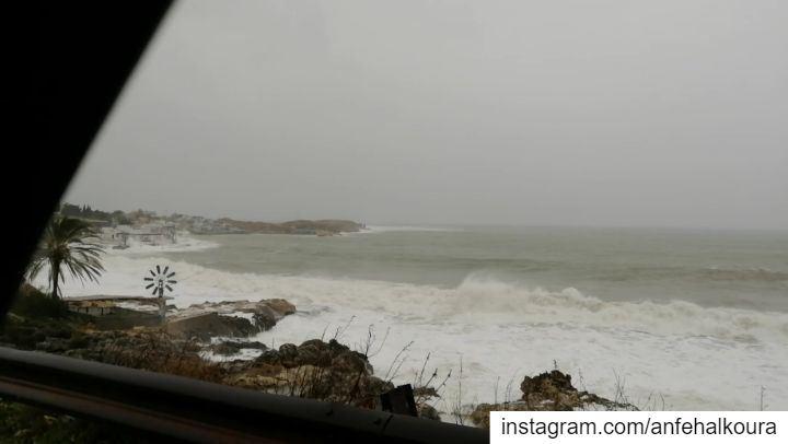 Anfeh 16-01-2019 @tahetelrih storm lebanon beirut jbeil anfeh ... (Lebanon)