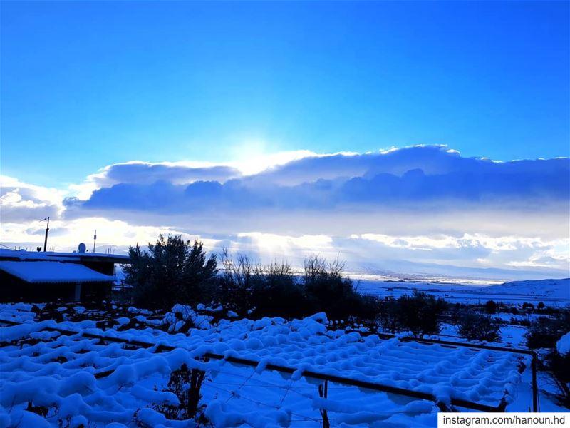 morning snow cold rise sunrise btedhi deirelahmar bekaa baalbak ... (Btedhi)