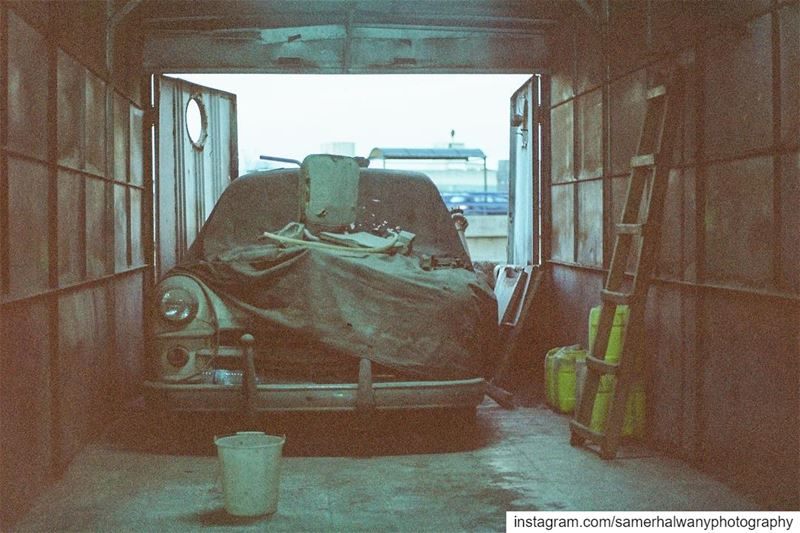 The garage ....shot in beirut lebanon with my vintage camera ...