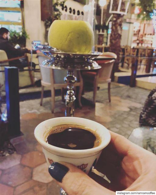 لا تستهين بقلب كان اول اهتمامه يسعدك... ramramcoffee turkishcoffee ... (Kahwet Beirut قهوة بيروت)