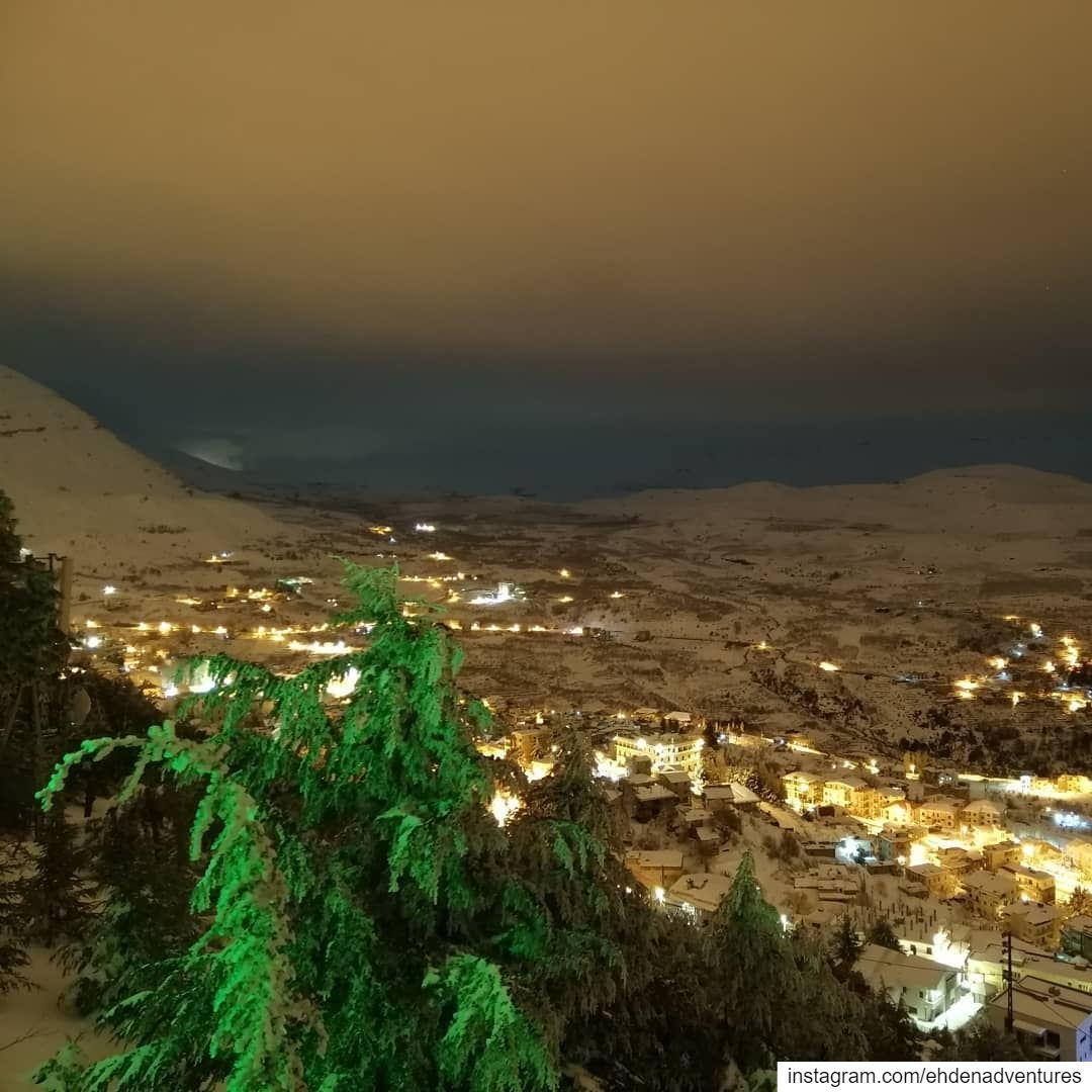 goodnightlebanon goodnightworld ehden snow night lebanon town ... (Ehden, Lebanon)