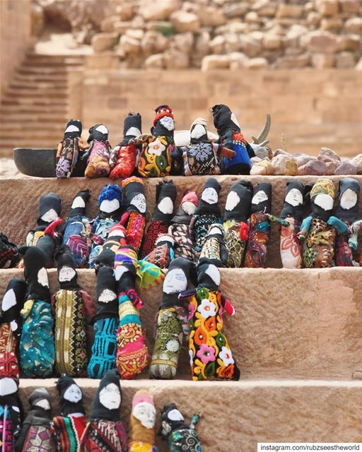 Petra, Jordan: voodoo dolls, anybody?Just kidding, these aren't voodoo... (Petra, Ma`An, Jordan)