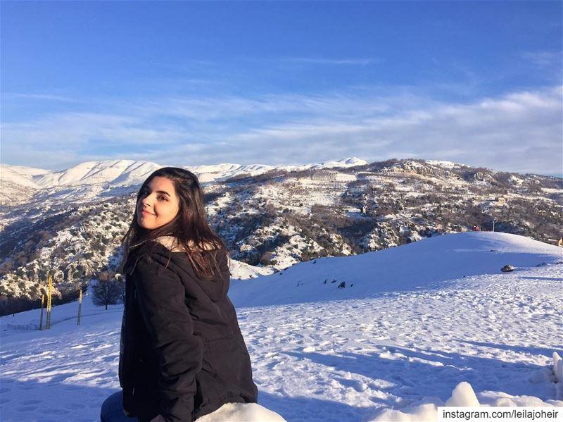 When snow falls... livelovefaraya faraya motherearth myescape serenity... (Faraya, Mont-Liban, Lebanon)