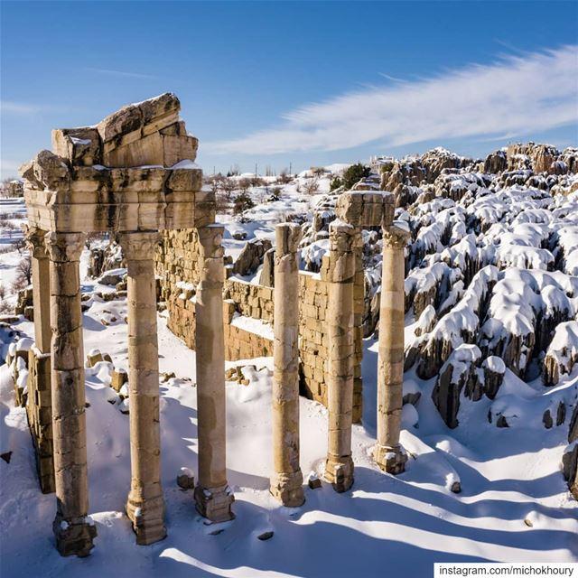 Temple of Adonis white edition.... Lebanon fromwhereidrone ... (Fakra Kfarzebian Liban)