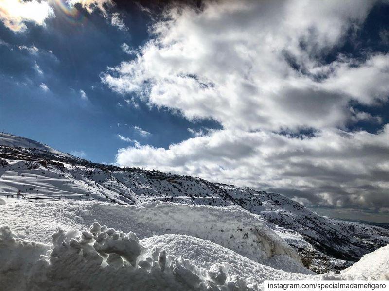 Amazing day in faraya faqra snow winterinlebanon lebanesemountains ...