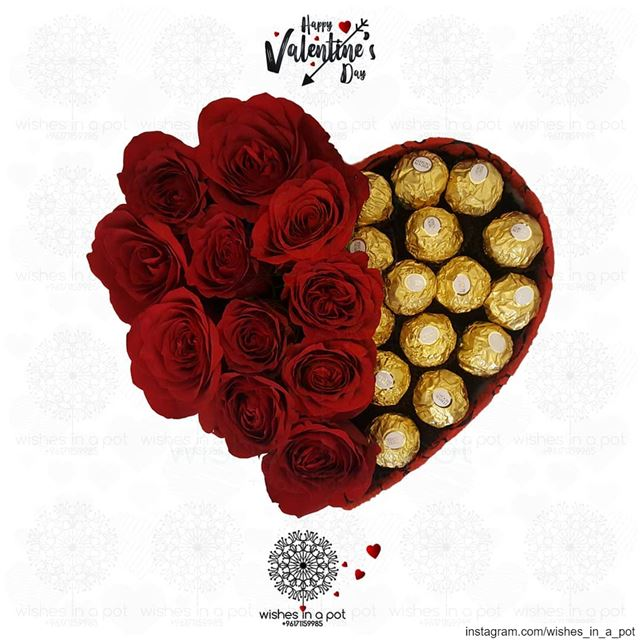 roses &  chocolate the perfect combination for  valentine Place your ...