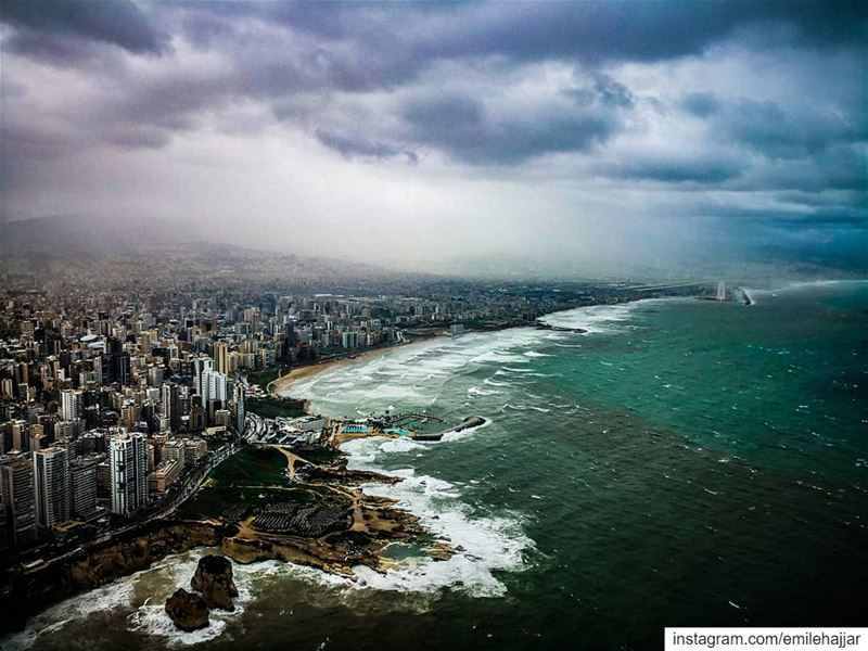 Beirut during the last storm Fatalaframes MoodyGrams landscape ...