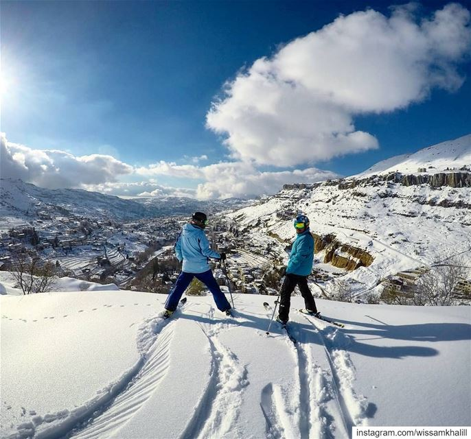 ⛷️backcountry back to Faraya⛷️ faraya farayalovers lebanon ... (Chabrouh-Faraya)
