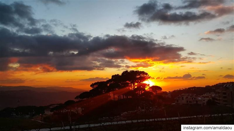 Today's sunset. ..tomorrow's ice! sunset lebanon igers ig_color ... (Mar Musa, Mont-Liban, Lebanon)
