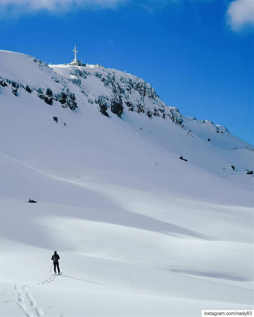 Random trails 🏔️.. backcountryskiing skitouring lebanon snow ski ...